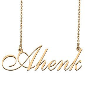 Custom Personalized Ahenk Name Necklace